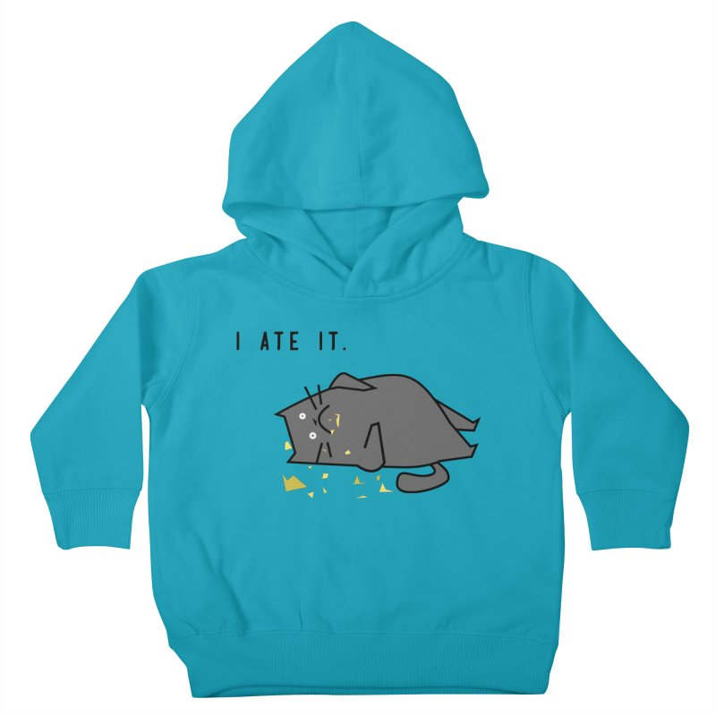 The Cat Ate It Kids Toddler Pullover Hoody by Ginger's Shop