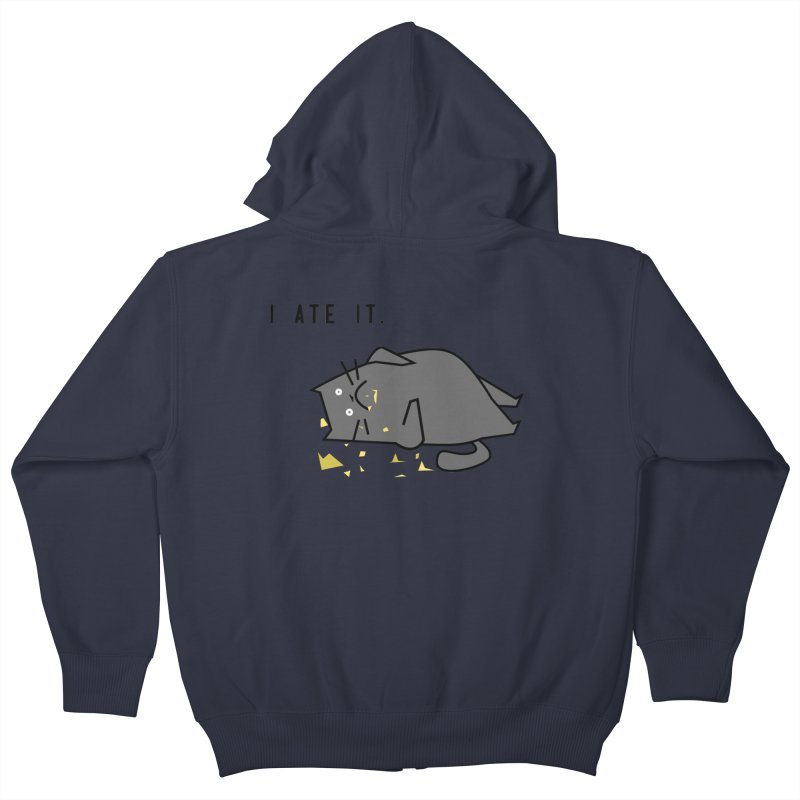 The Cat Ate It Kids Zip-Up Hoody by Ginger's Shop