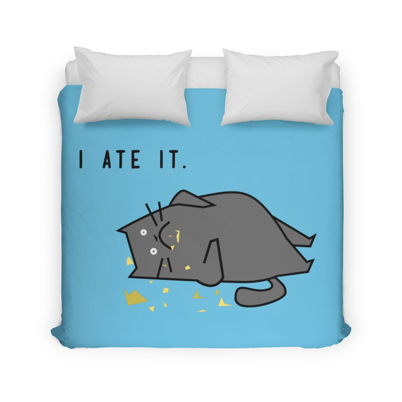 The Cat Ate It Home Duvet by Ginger's Shop