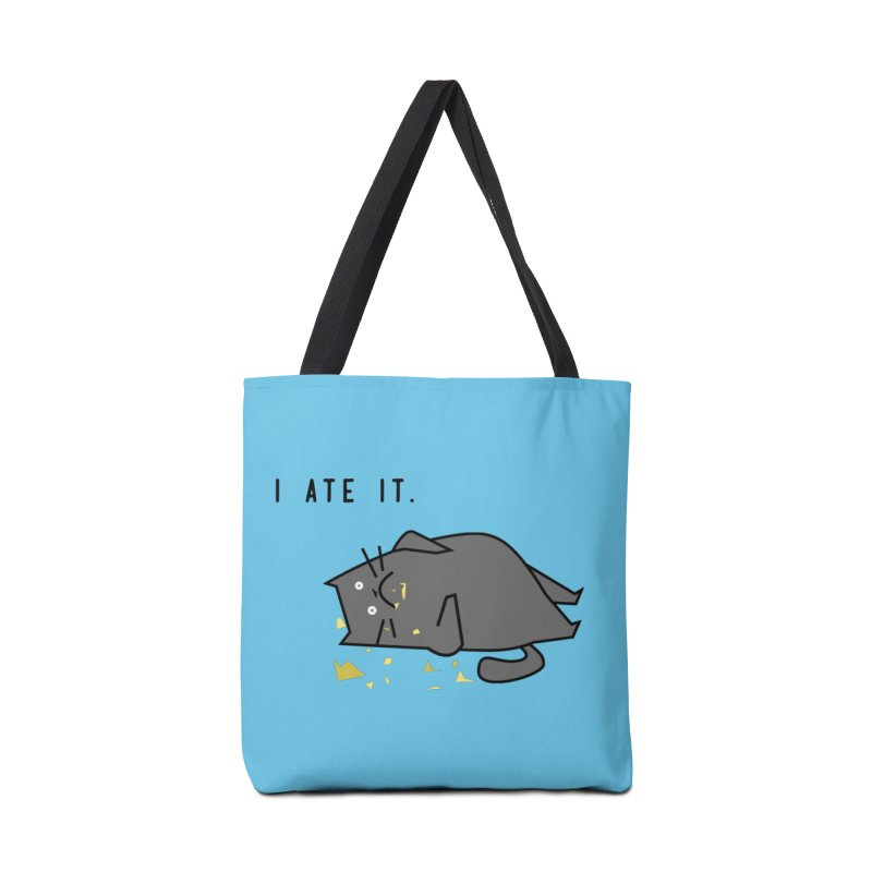 The Cat Ate It in Tote Bag by Ginger's Shop