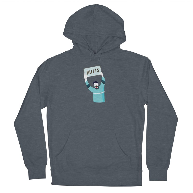 Butts Men's Pullover Hoody by Ginger's Shop