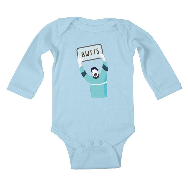Butts Kids Baby Longsleeve Bodysuit by Ginger's Shop
