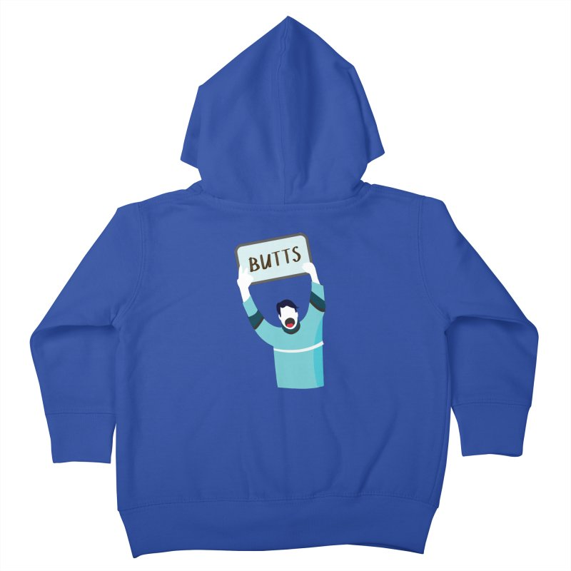 Butts Kids Toddler Zip-Up Hoody by Ginger's Shop