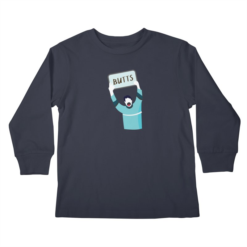 Butts Kids Longsleeve T-Shirt by Ginger's Shop