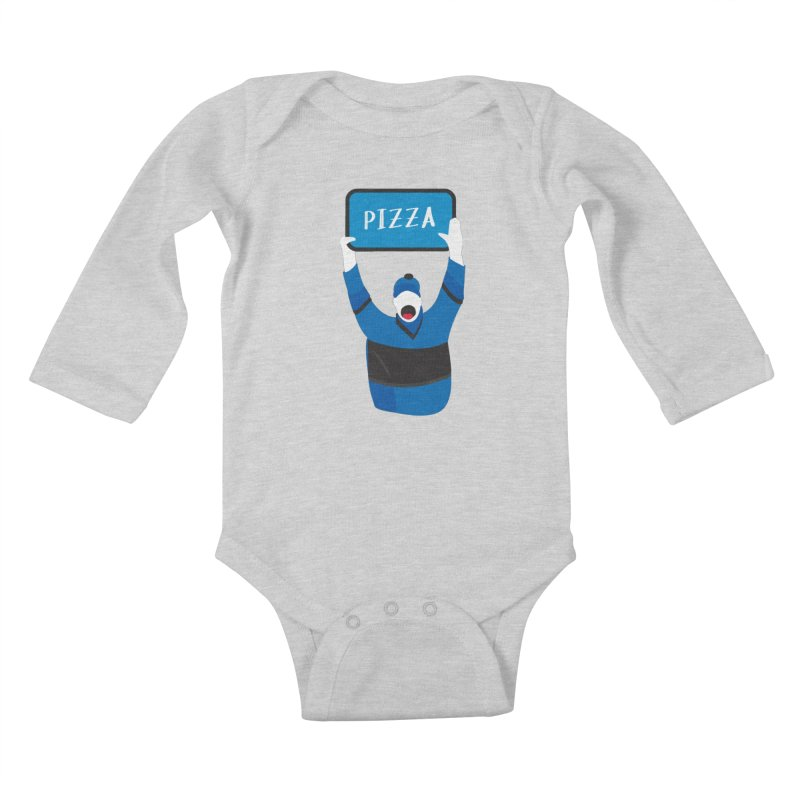 Pizza Kids Baby Longsleeve Bodysuit by Ginger's Shop