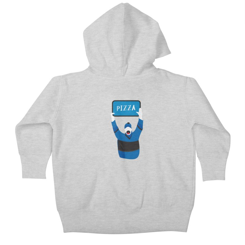 Pizza Kids Baby Zip-Up Hoody by Ginger's Shop