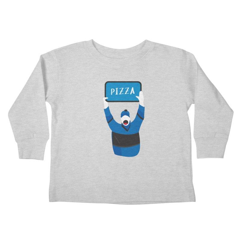 Pizza Kids Toddler Longsleeve T-Shirt by Ginger's Shop