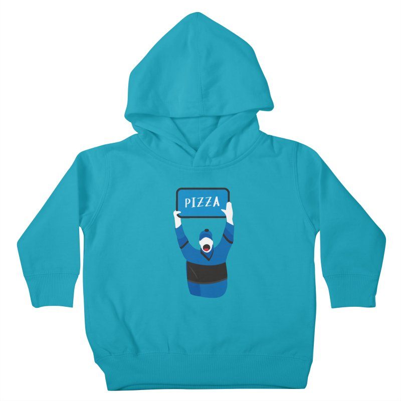 Pizza Kids Toddler Pullover Hoody by Ginger's Shop