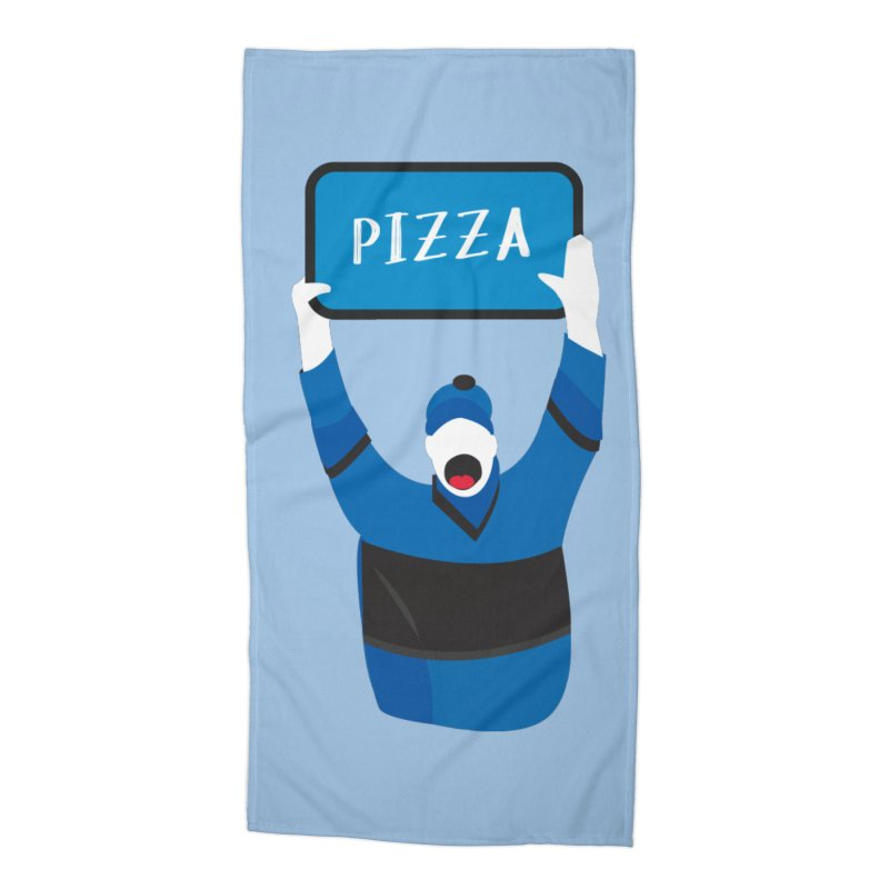 Pizza Accessories Beach Towel by Ginger's Shop