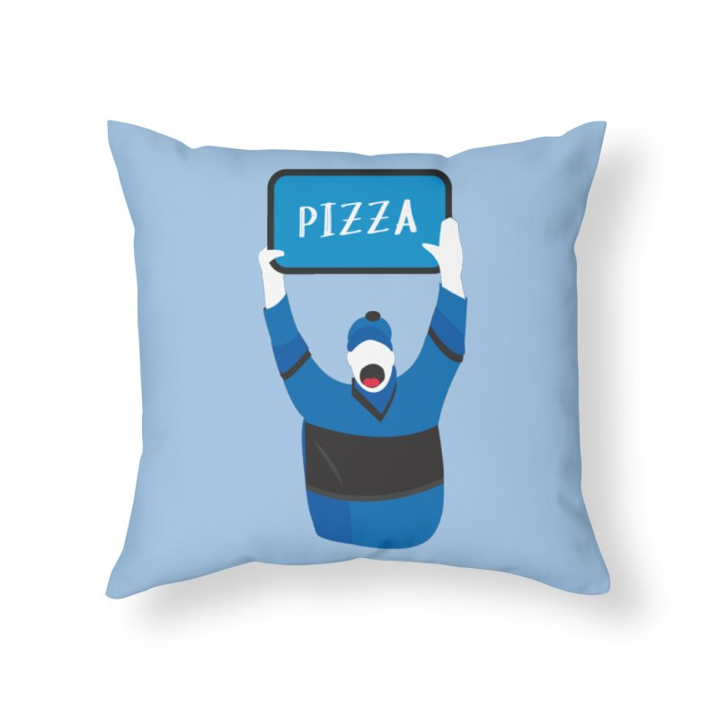 Pizza Home Throw Pillow by Ginger's Shop