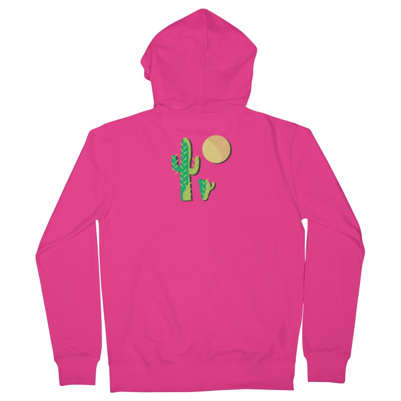 Cactus Men's Zip-Up Hoody by Ginger's Shop