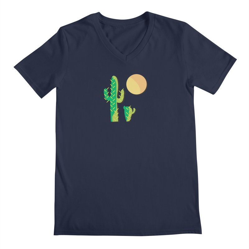 Cactus Men's V-Neck by Ginger's Shop