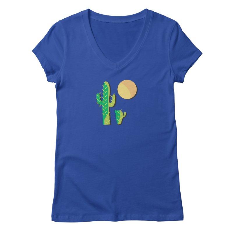 Cactus Women's V-Neck by Ginger's Shop
