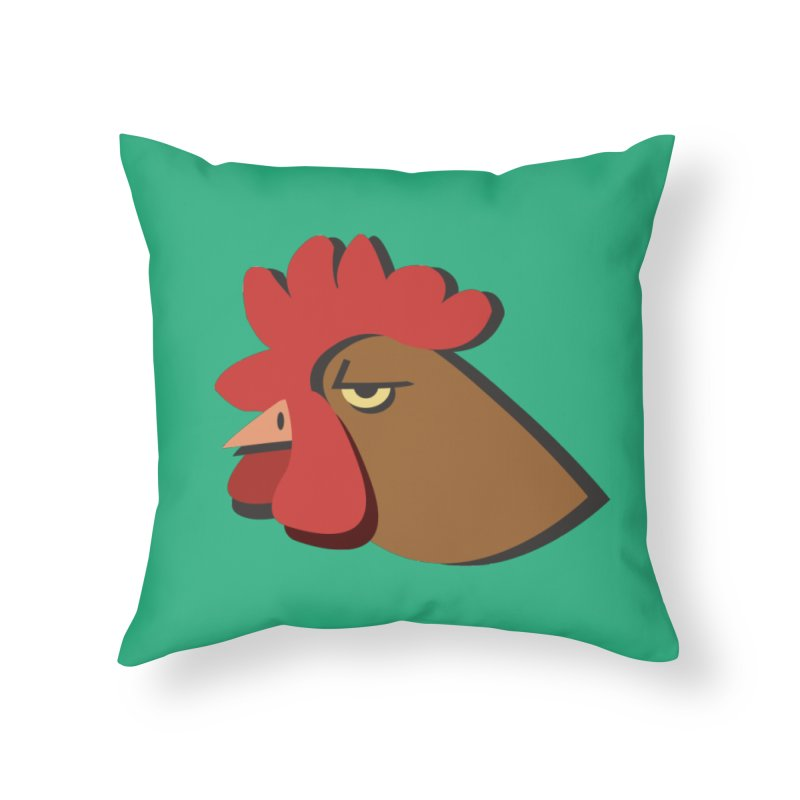 The Rooster Home Throw Pillow by Ginger's Shop