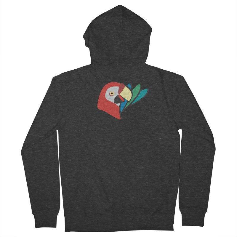 The Parrot Men's Zip-Up Hoody by Ginger's Shop