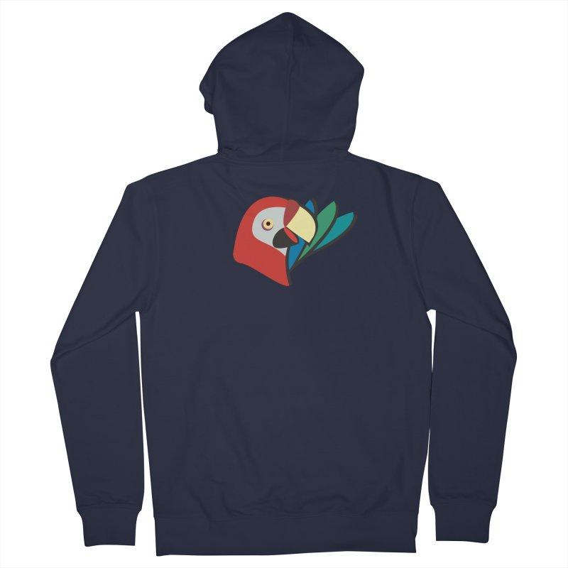 The Parrot Men's Zip-Up Hoody by Ginger's Shop