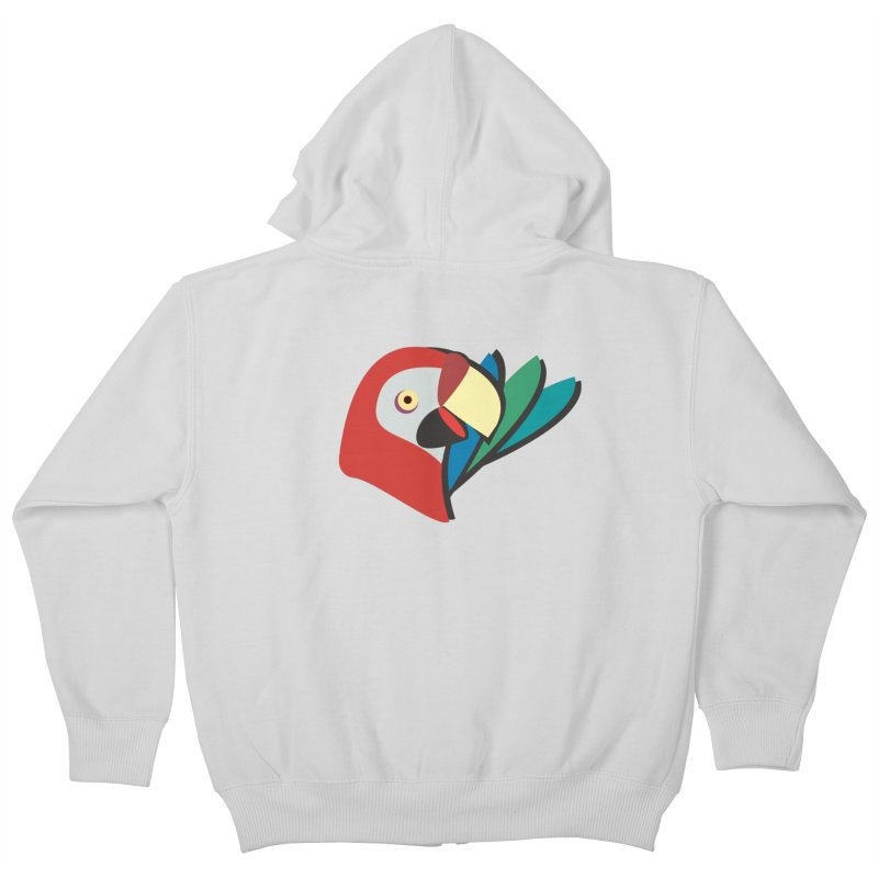 The Parrot Kids Zip-Up Hoody by Ginger's Shop