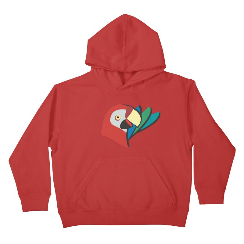 The Parrot Kids Pullover Hoody by Ginger's Shop