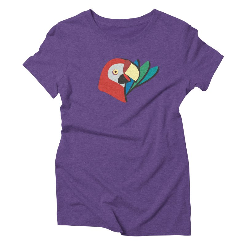 The Parrot Women's Triblend T-Shirt by Ginger's Shop