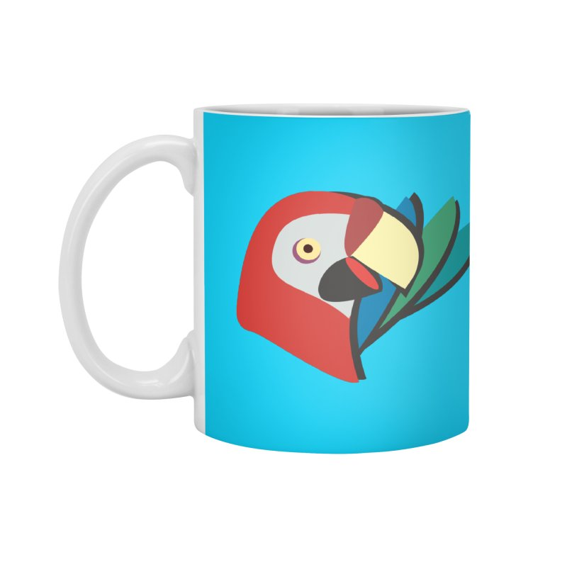 The Parrot Accessories Mug by Ginger's Shop