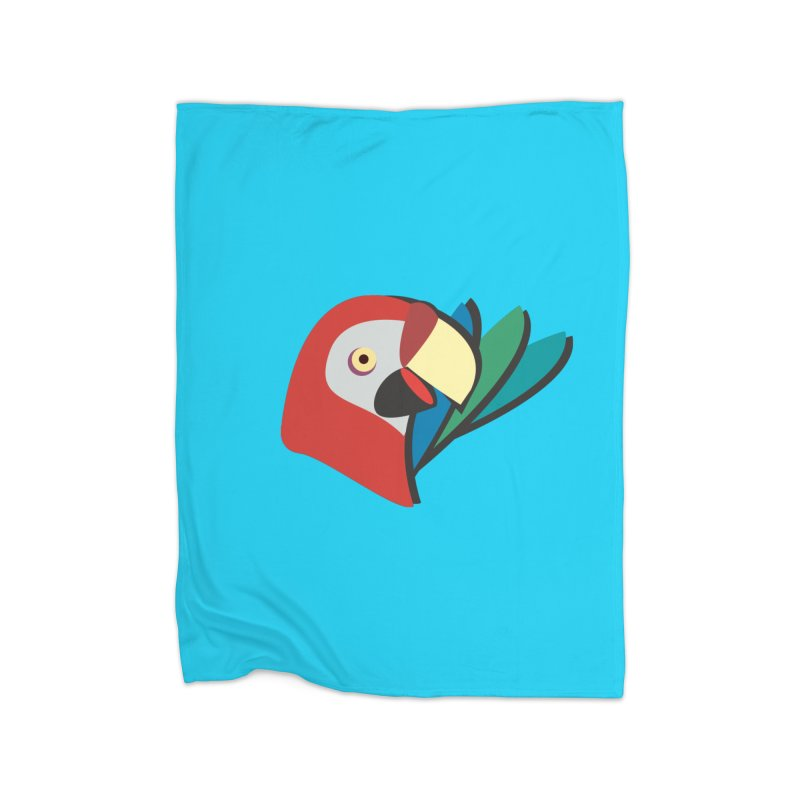 The Parrot Home Blanket by Ginger's Shop