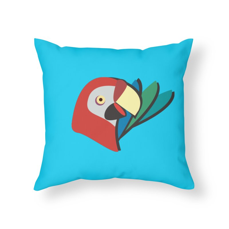 The Parrot Home Throw Pillow by Ginger's Shop