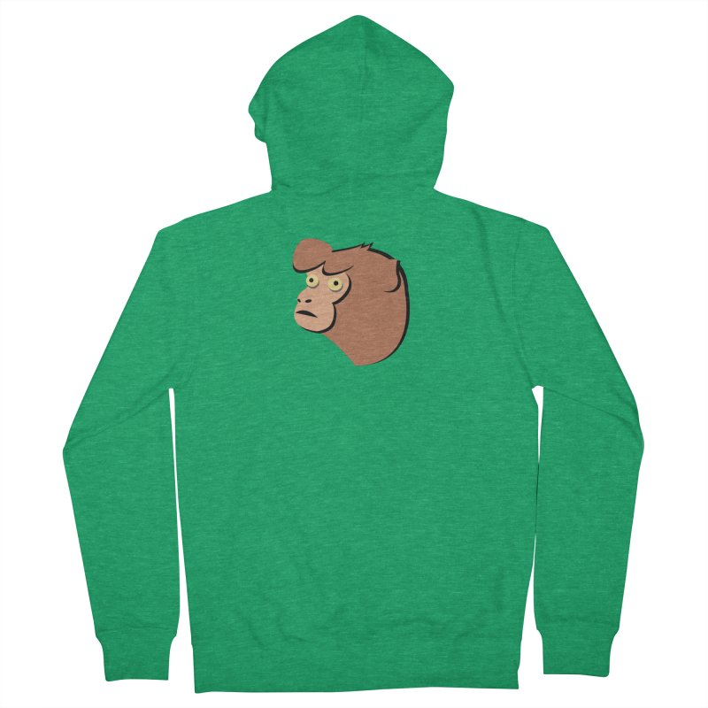 The Monkey Men's Zip-Up Hoody by Ginger's Shop