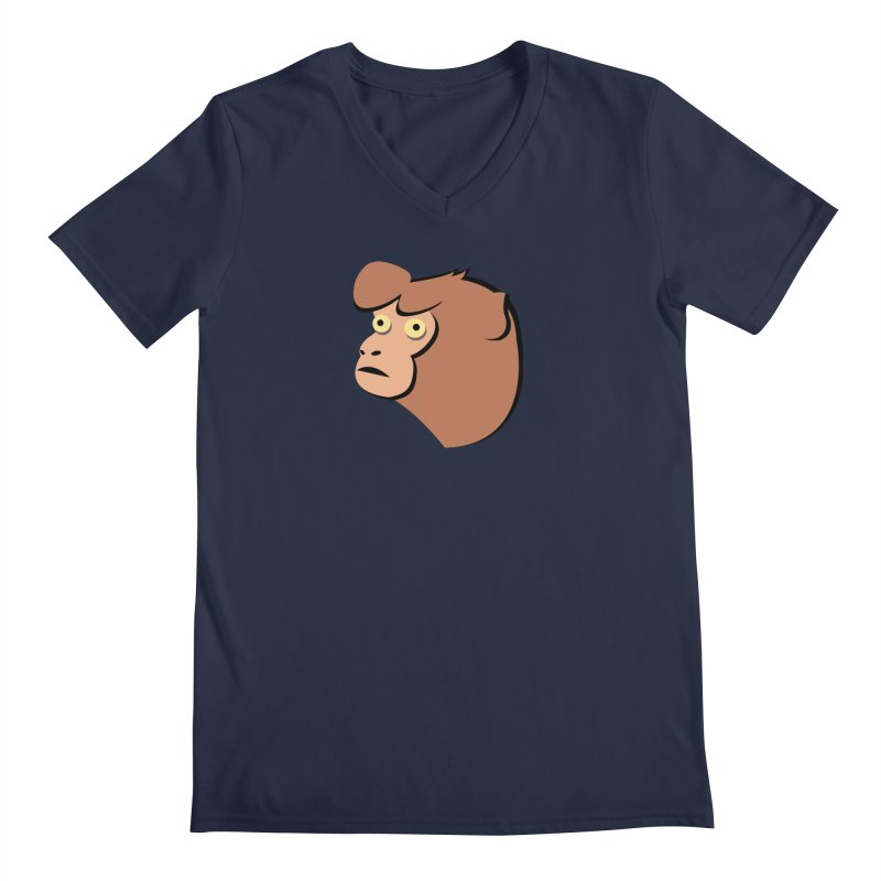 The Monkey Men's V-Neck by Ginger's Shop