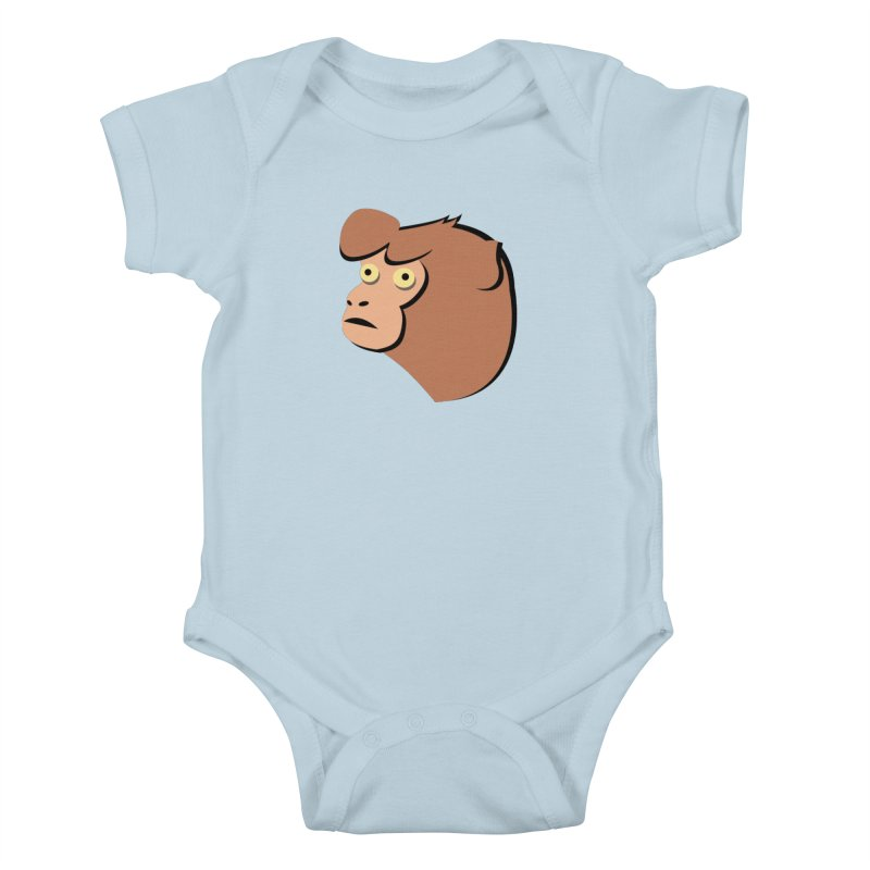 The Monkey Kids Baby Bodysuit by Ginger's Shop