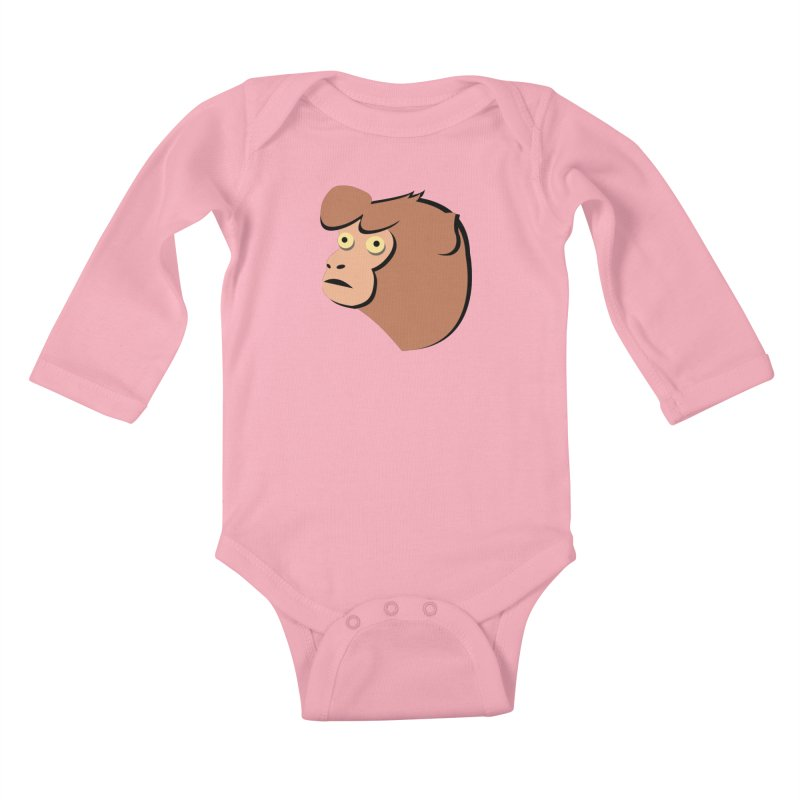 The Monkey Kids Baby Longsleeve Bodysuit by Ginger's Shop