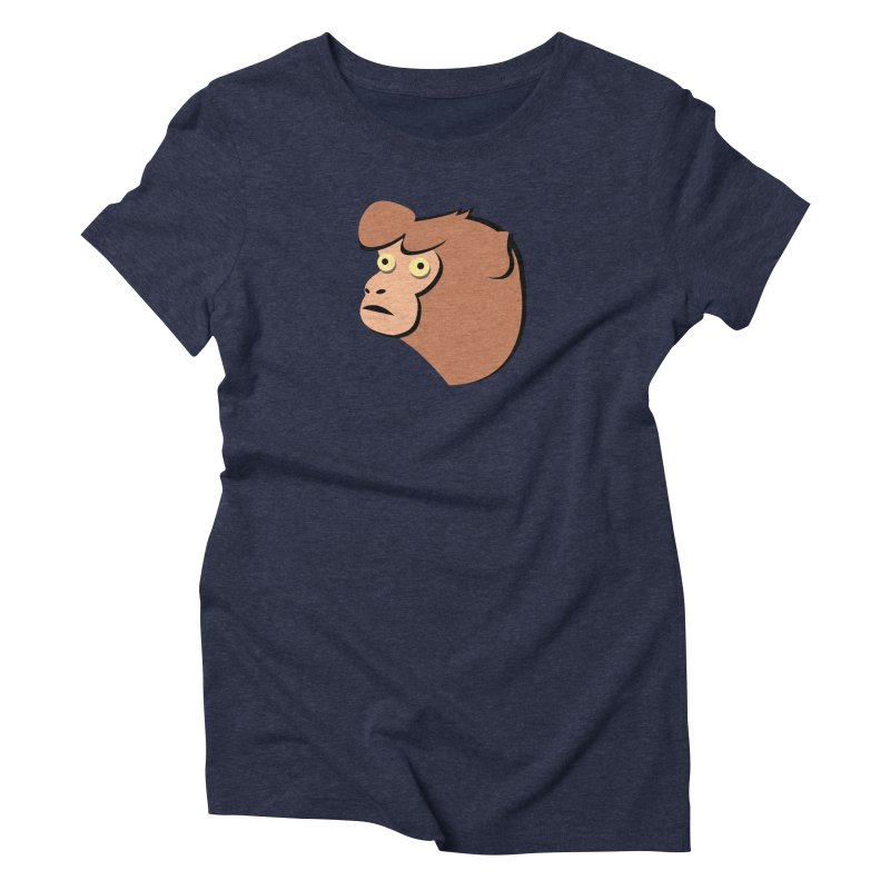 The Monkey Women's Triblend T-Shirt by Ginger's Shop
