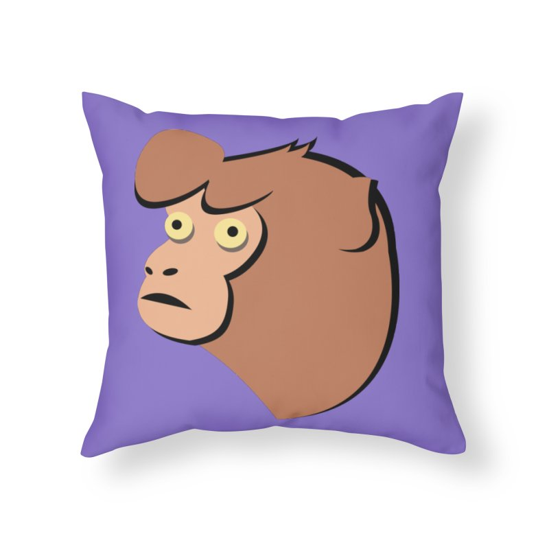 The Monkey Home Throw Pillow by Ginger's Shop