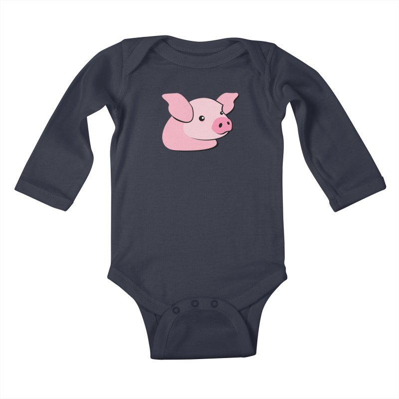 The Pig Kids Baby Longsleeve Bodysuit by Ginger's Shop