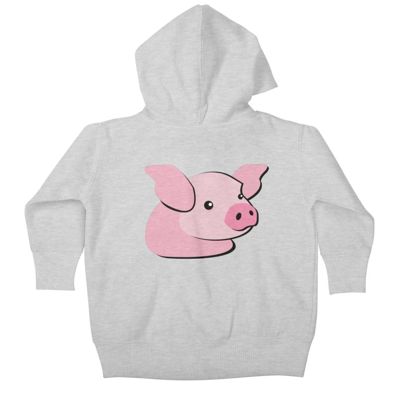 The Pig Kids Baby Zip-Up Hoody by Ginger's Shop