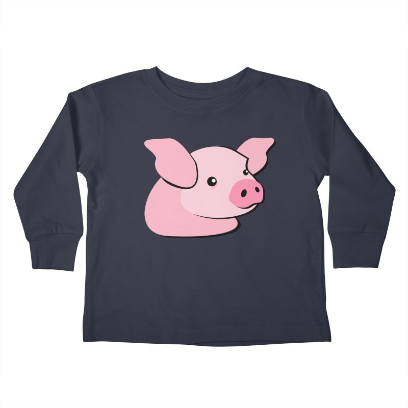 The Pig Kids Toddler Longsleeve T-Shirt by Ginger's Shop