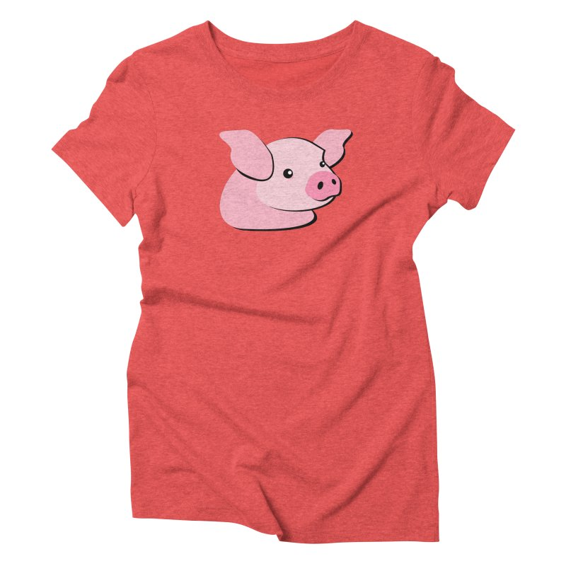 The Pig Women's Triblend T-Shirt by Ginger's Shop