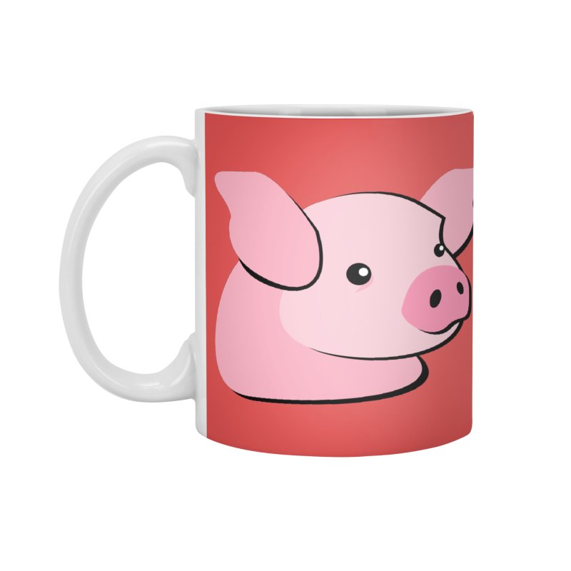 The Pig Accessories Mug by Ginger's Shop