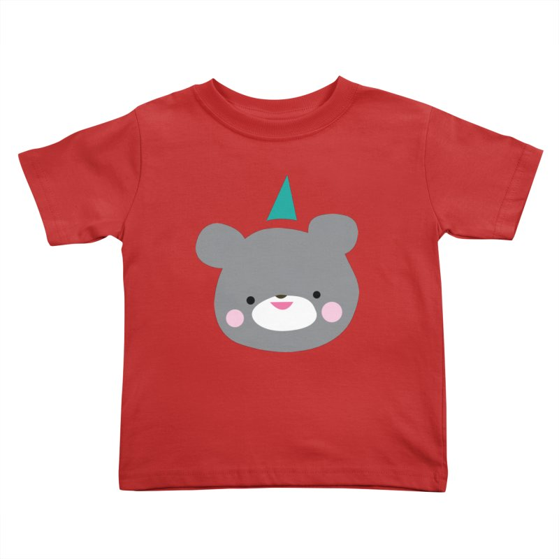 Party Bear Kids Toddler T-Shirt by Ginger's Shop
