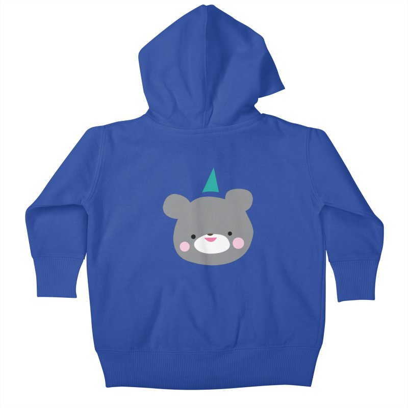 Party Bear Kids Baby Zip-Up Hoody by Ginger's Shop