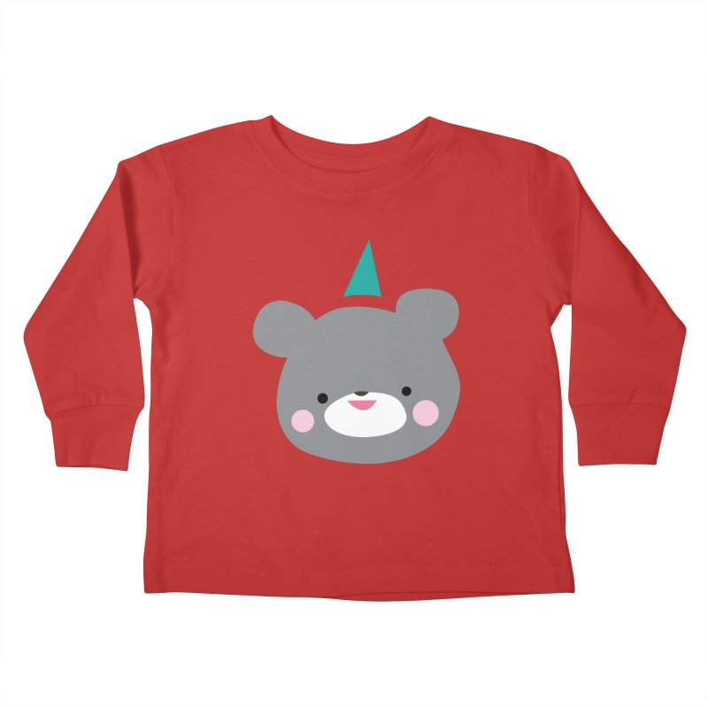 Party Bear Kids Toddler Longsleeve T-Shirt by Ginger's Shop