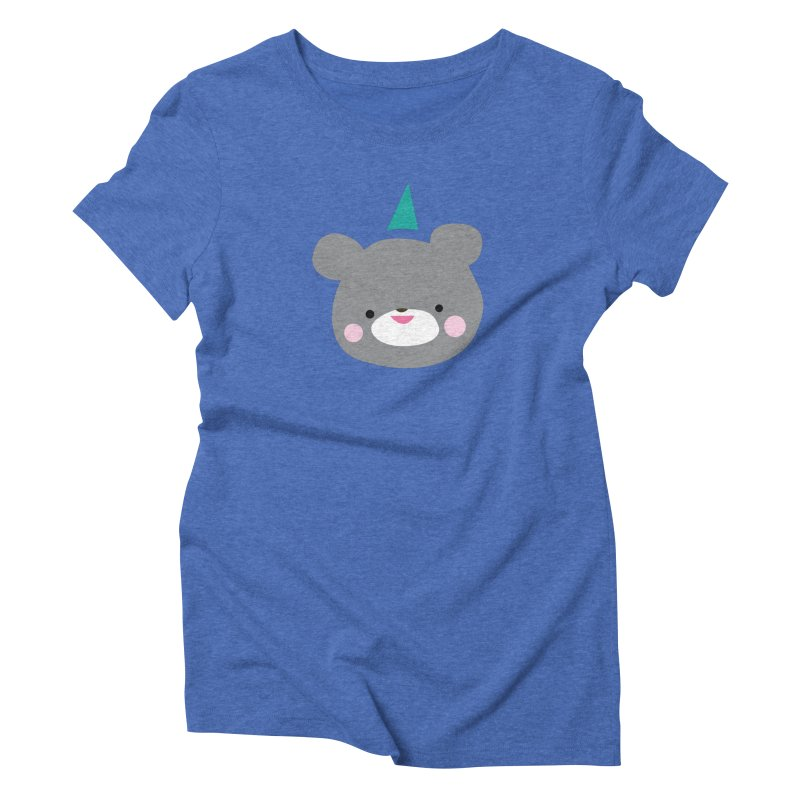 Party Bear Women's Triblend T-Shirt by Ginger's Shop