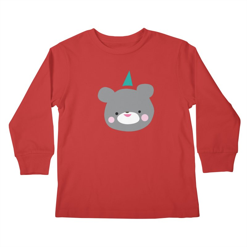 Party Bear Kids Longsleeve T-Shirt by Ginger's Shop