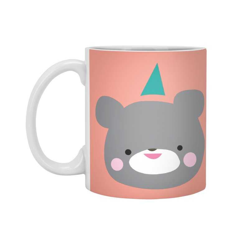 Party Bear in Standard Mug White by Ginger's Shop