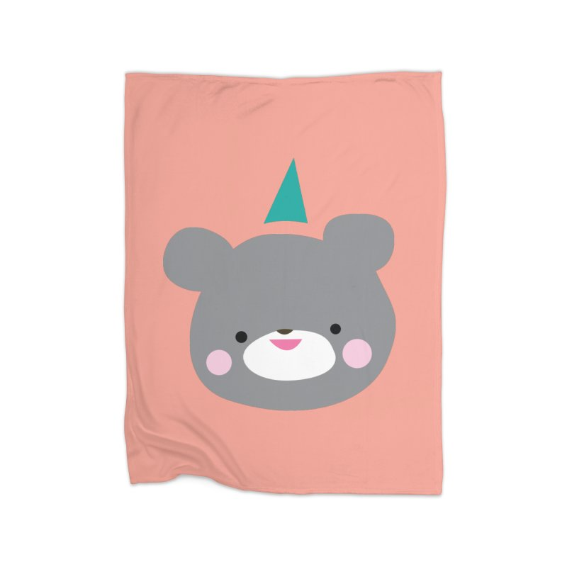 Party Bear Home Blanket by Ginger's Shop