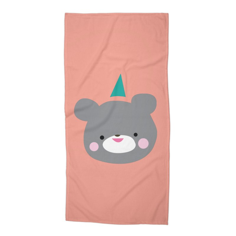 Party Bear Accessories Beach Towel by Ginger's Shop