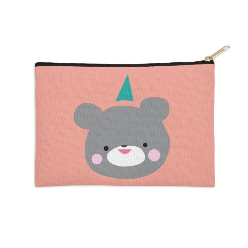 Party Bear Accessories Zip Pouch by Ginger's Shop