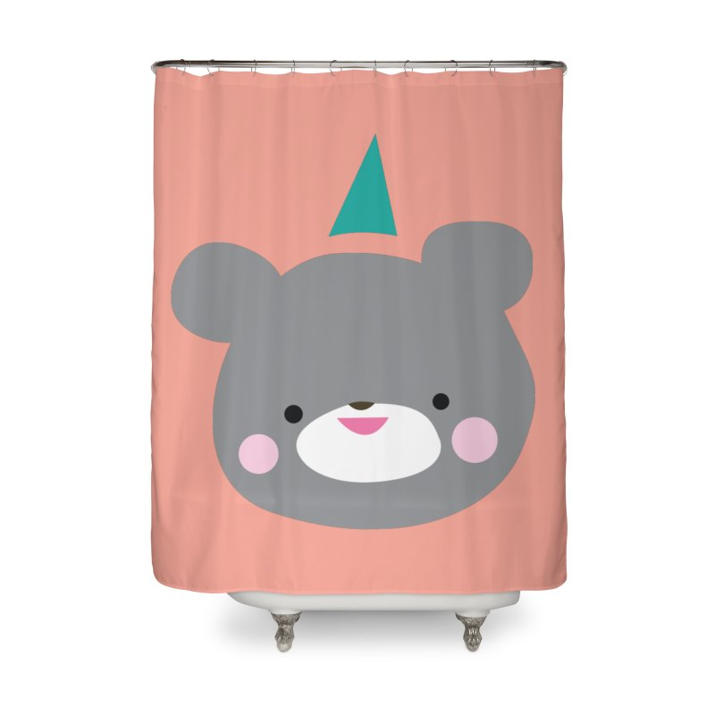 Party Bear Home Shower Curtain by Ginger's Shop