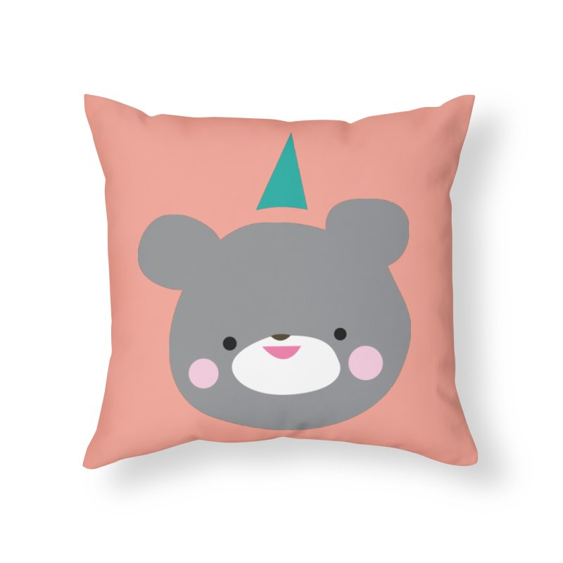 Party Bear Home Throw Pillow by Ginger's Shop