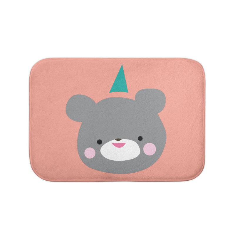 Party Bear Home Bath Mat by Ginger's Shop