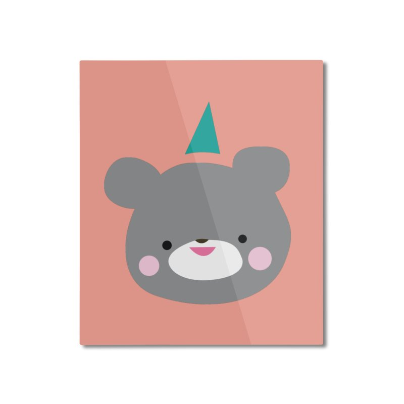 Party Bear Home Mounted Aluminum Print by Ginger's Shop